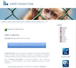 Il est toujours possible de signer la petition Stop à la Vivisection en ligne