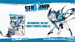 Sortie de la bande dessinée Servamp, un chat noir serviteur de vampires.