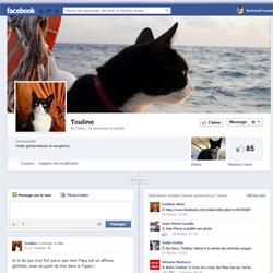 Touline une vedette sur Facebook