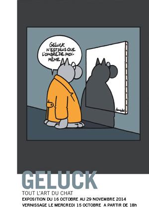Le Chat de Geluck s'expose  à la Galerie Huberty-Breyne