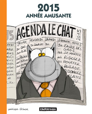 Couverture de L'Agenda 2015 Le Chat de Philippe Geluck
