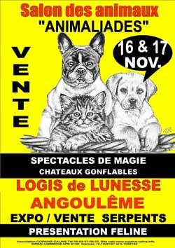 L'affiche du Salon des Animaliades 2013 d'Angoulême