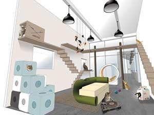un h tel pension pour chat de paris aristide ouvrira en f vrier 2014. Black Bedroom Furniture Sets. Home Design Ideas