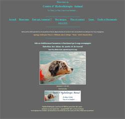 Copie d'écran du Centre d'Hydrothérapie Animal de Villefranche sur Saone