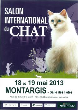 Salon du chat de Montargis 2013 le 18 et 19 mai