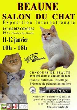 Affiche de l'exposition des chats de Beaune 2014