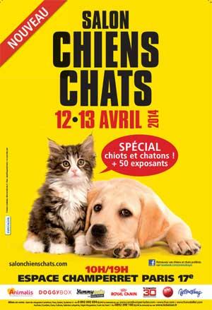 Affiche du salon des chats 2014 Espace Champerret à Paris
