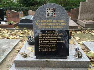 A Asnières, le cimetière des chiens accepte aussi les chats...
