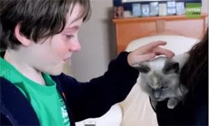 Vidéo Minet est de retour à la maison ... Que du bonheur pour toute la famille !